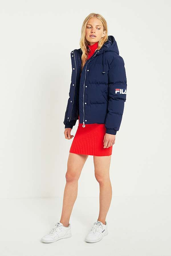 Slide View: 2: FILA Navy Puffer Jacket