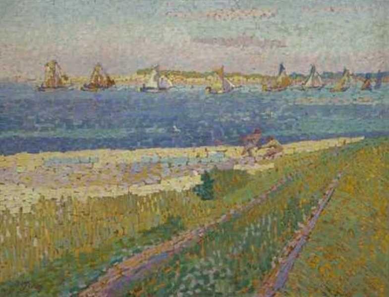 Jan Toorop - De vissersvloot van Veere