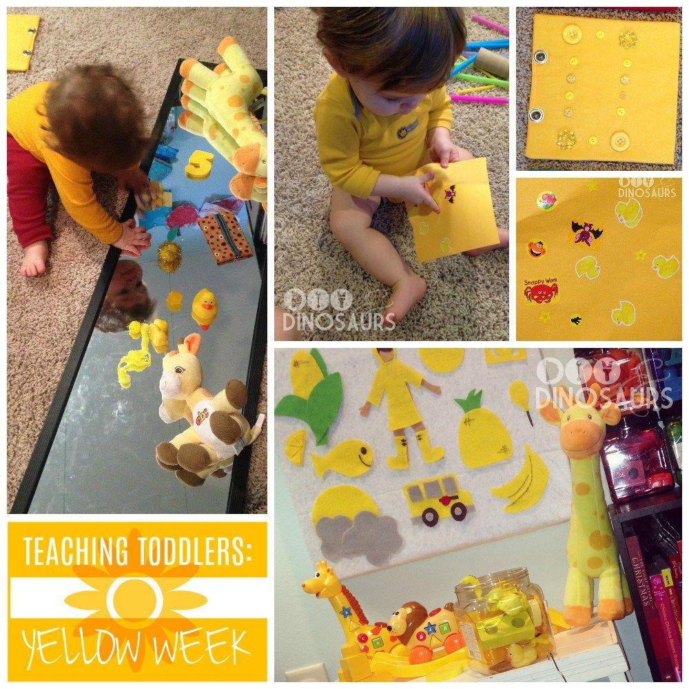 Teaching Toddlers: Yellow Week (for Kiddos 15+ Months