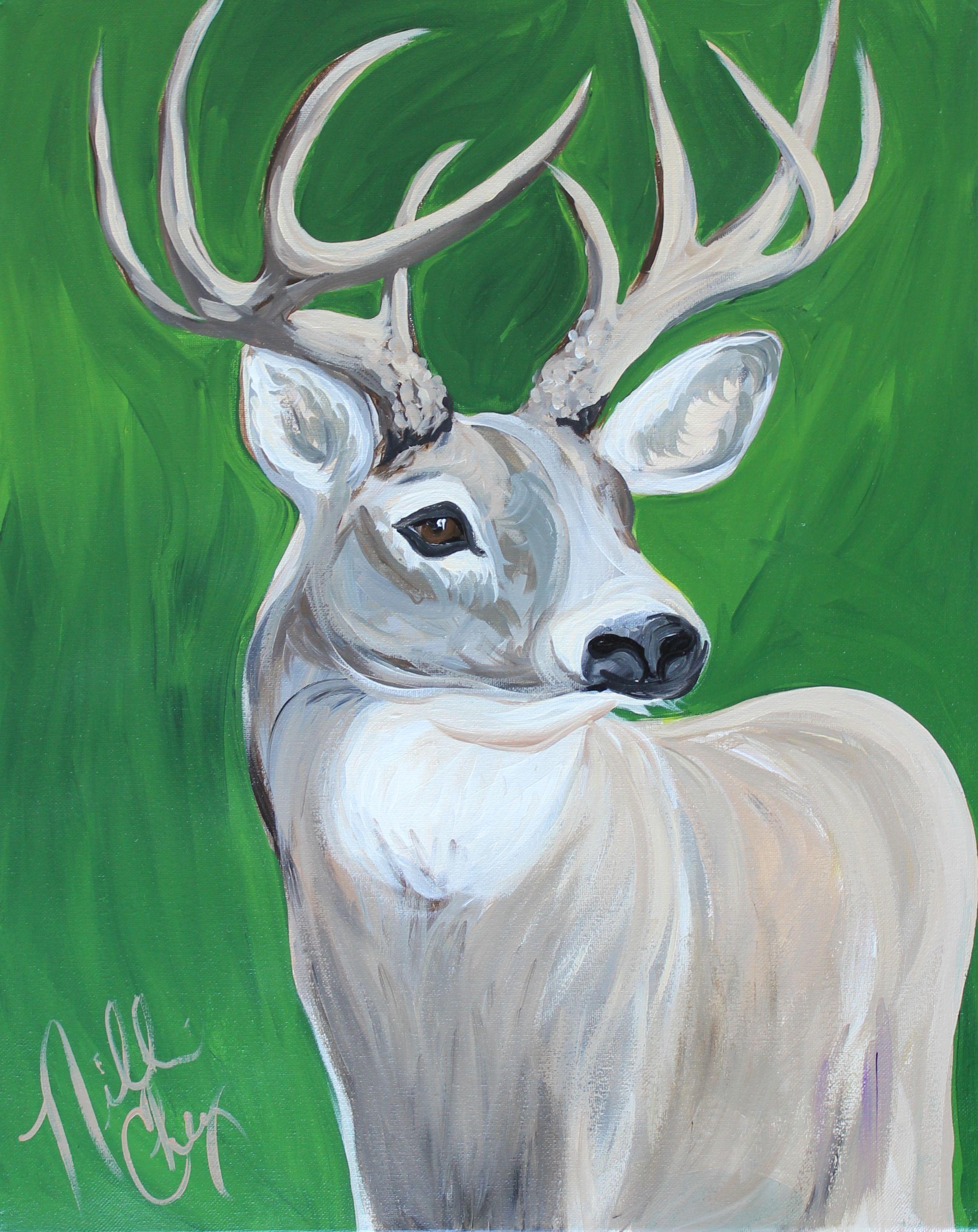 Deer Canvas Paintings Easy