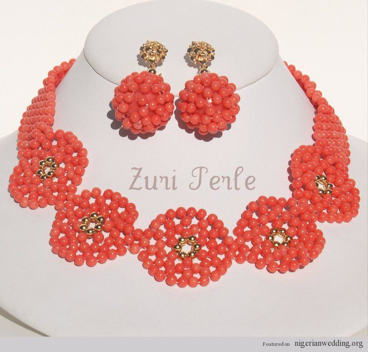 23 Gorgeous Peach Coral Beads Exclusively For Nigerian Brides ...
