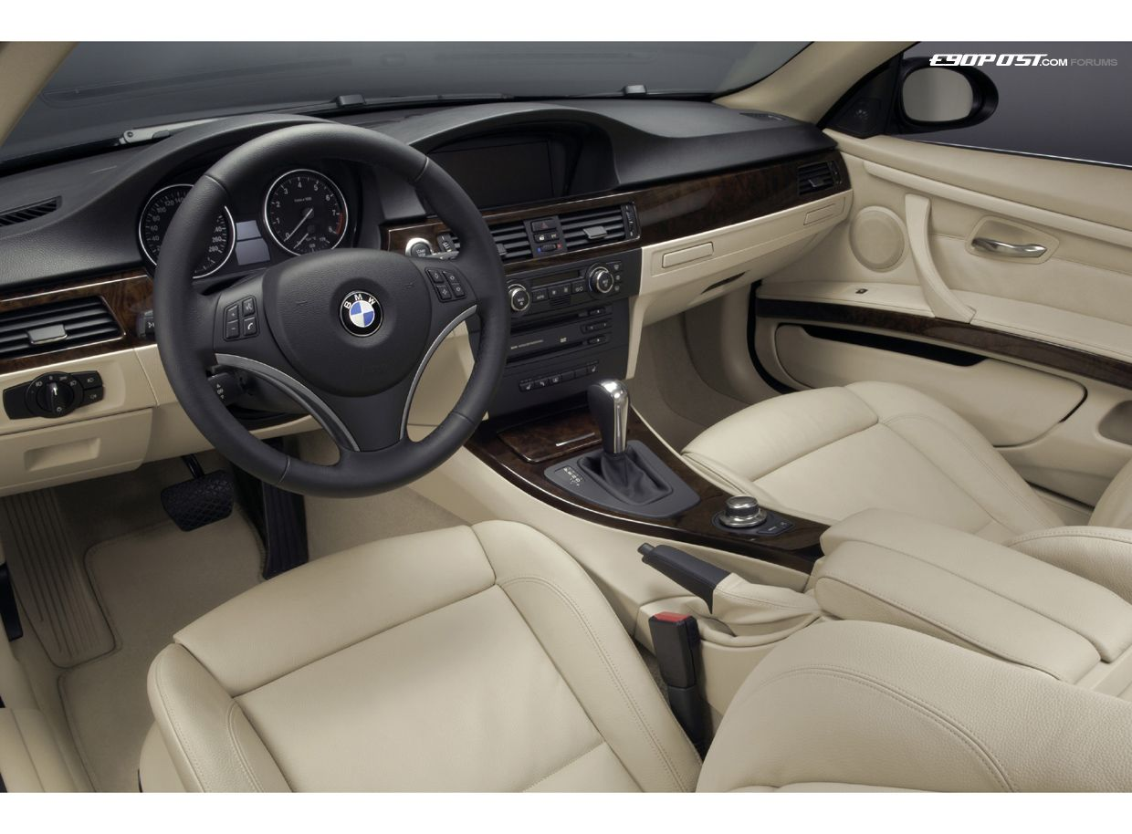BMW E92 3-series. This exhibits visual separation of the dash and ...