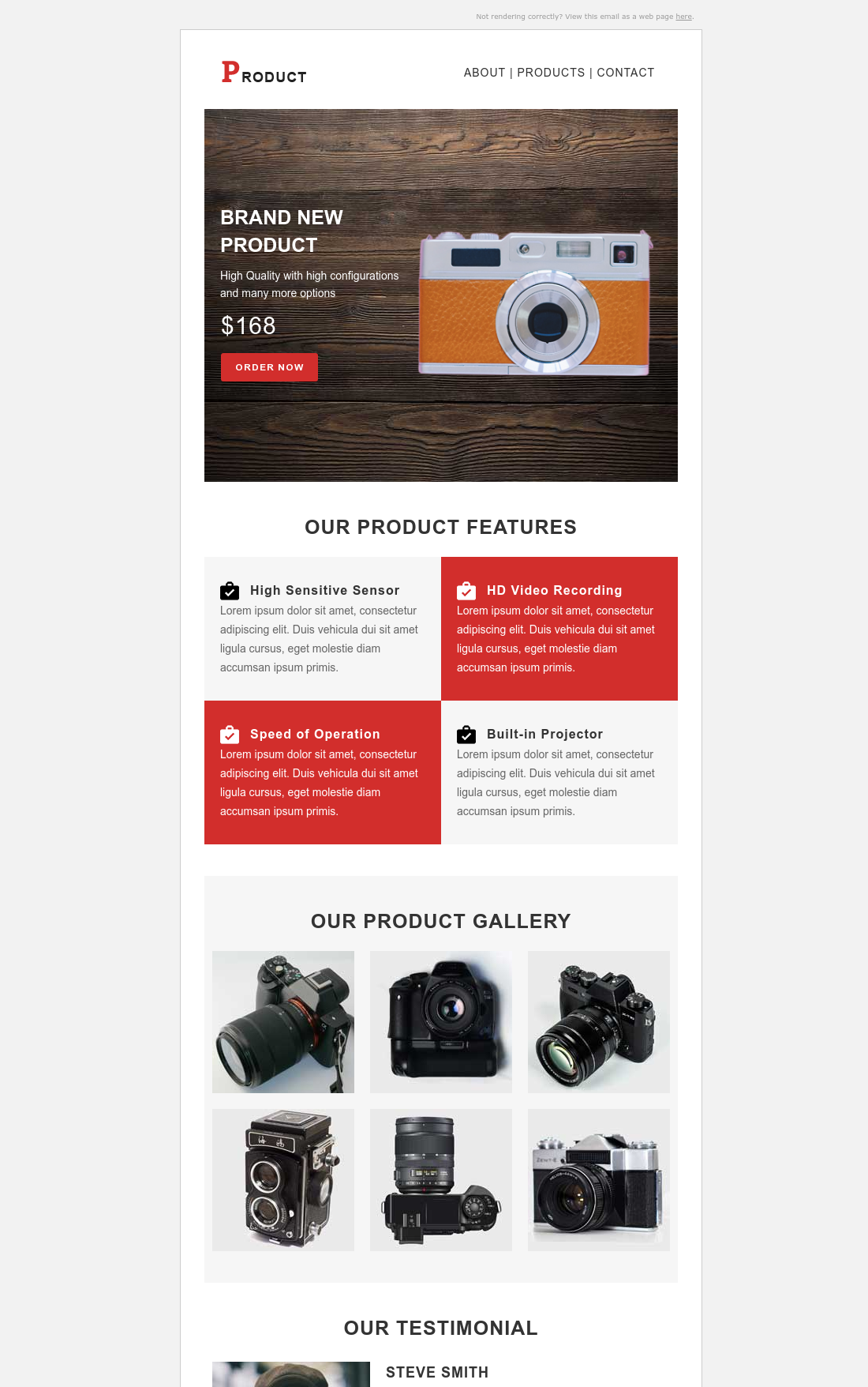 Product Showcase Responsive Email Template HubSpot