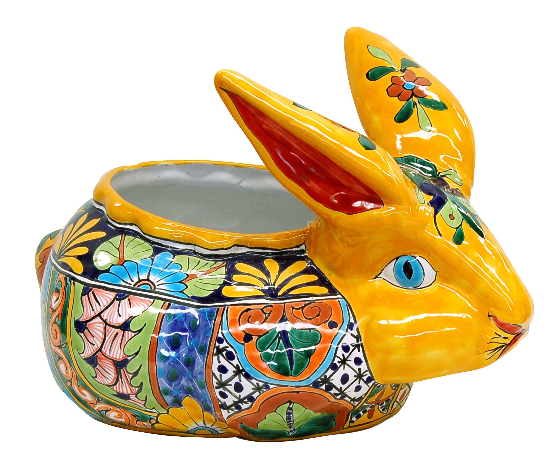 Mexican Talavera pottery rabbit. | Rabbit Art and Crafts | Pinterest ...