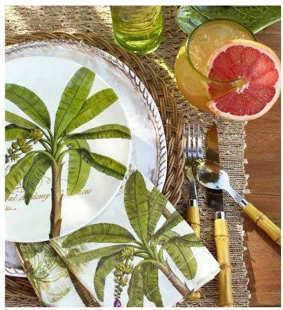 Palm place setting