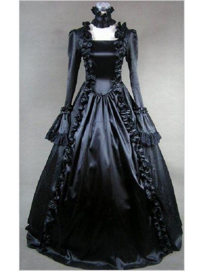 cff2fe96539e Black Lace Masquerade Dresses Black masquerade gothic ball | Bubble ...
