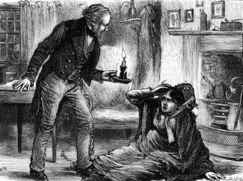 Engraving Depicting Scene From Charles Dickens Book Hard Times