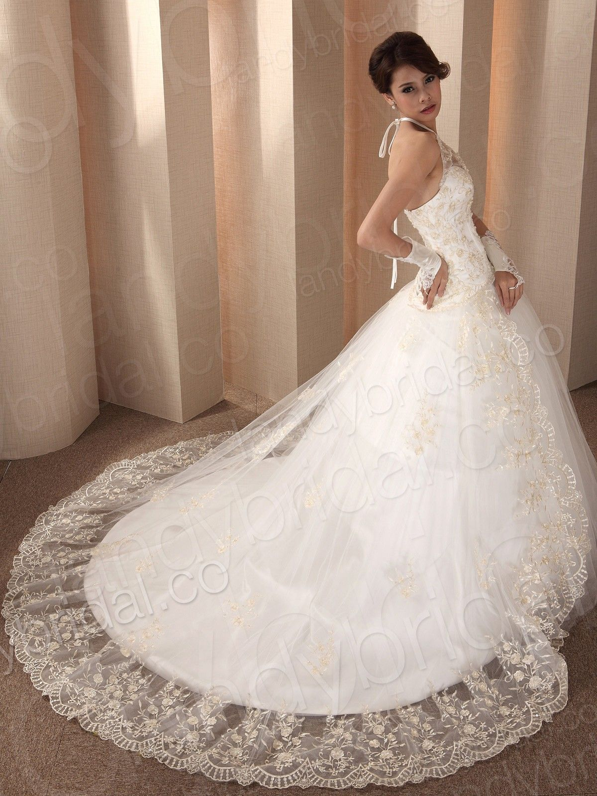 Lace Corset Ball Gown Wedding Dresses