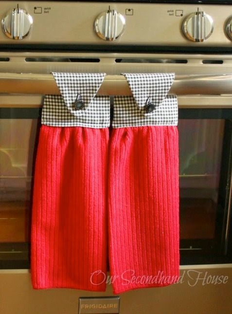 How to make hanging kitchen towels plus 6 other handmade for Kitchen crafts to make