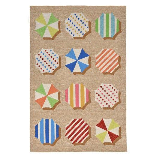 Liora Manne Ravella Fun Umbrellas Multicolored Indoor/Outdoor Rug : Target