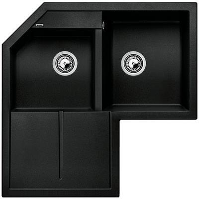 Undermount Corner Kitchen Sink blanco - silgranit natural granite composite corner sink, drop in