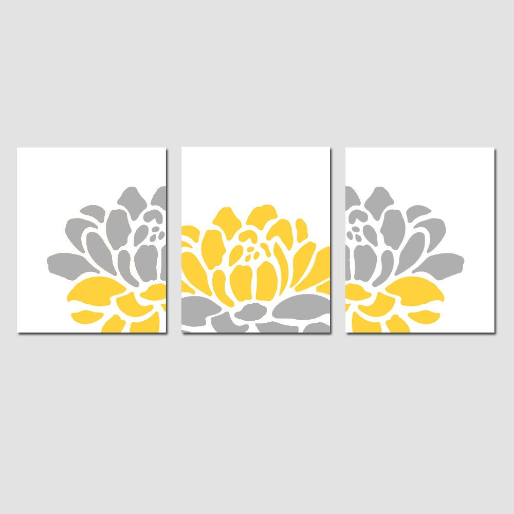 Floral Trio - Set of Three 8x10 Prints - Modern Wall Art - CHOOSE ...