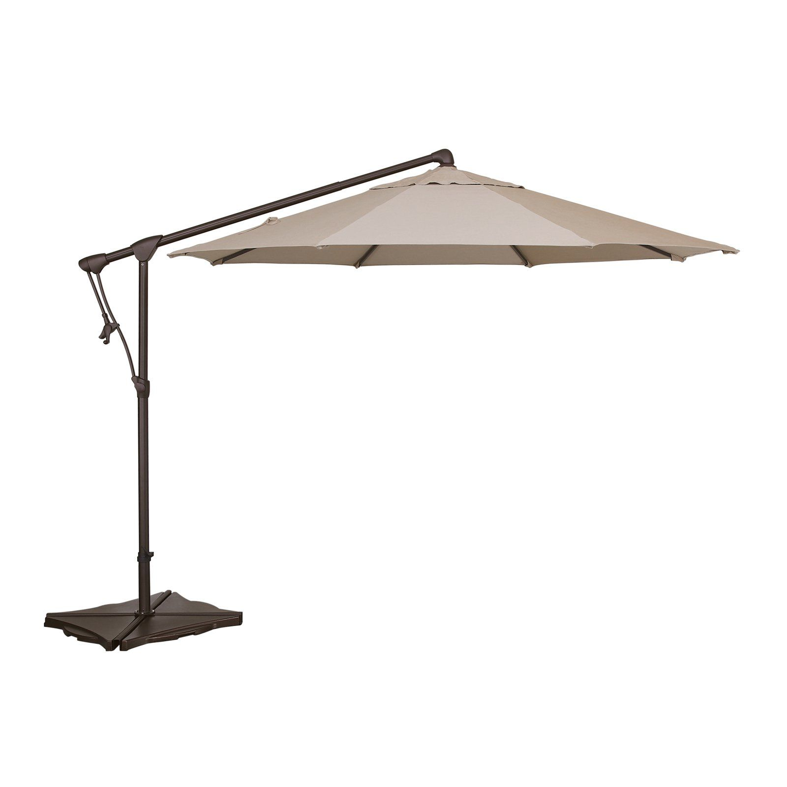 Treasure Garden 10 Ft Sunbrella Offset Patio Umbrella Antique Beige Offset Patio Umbrella Patio Umbrella Patio