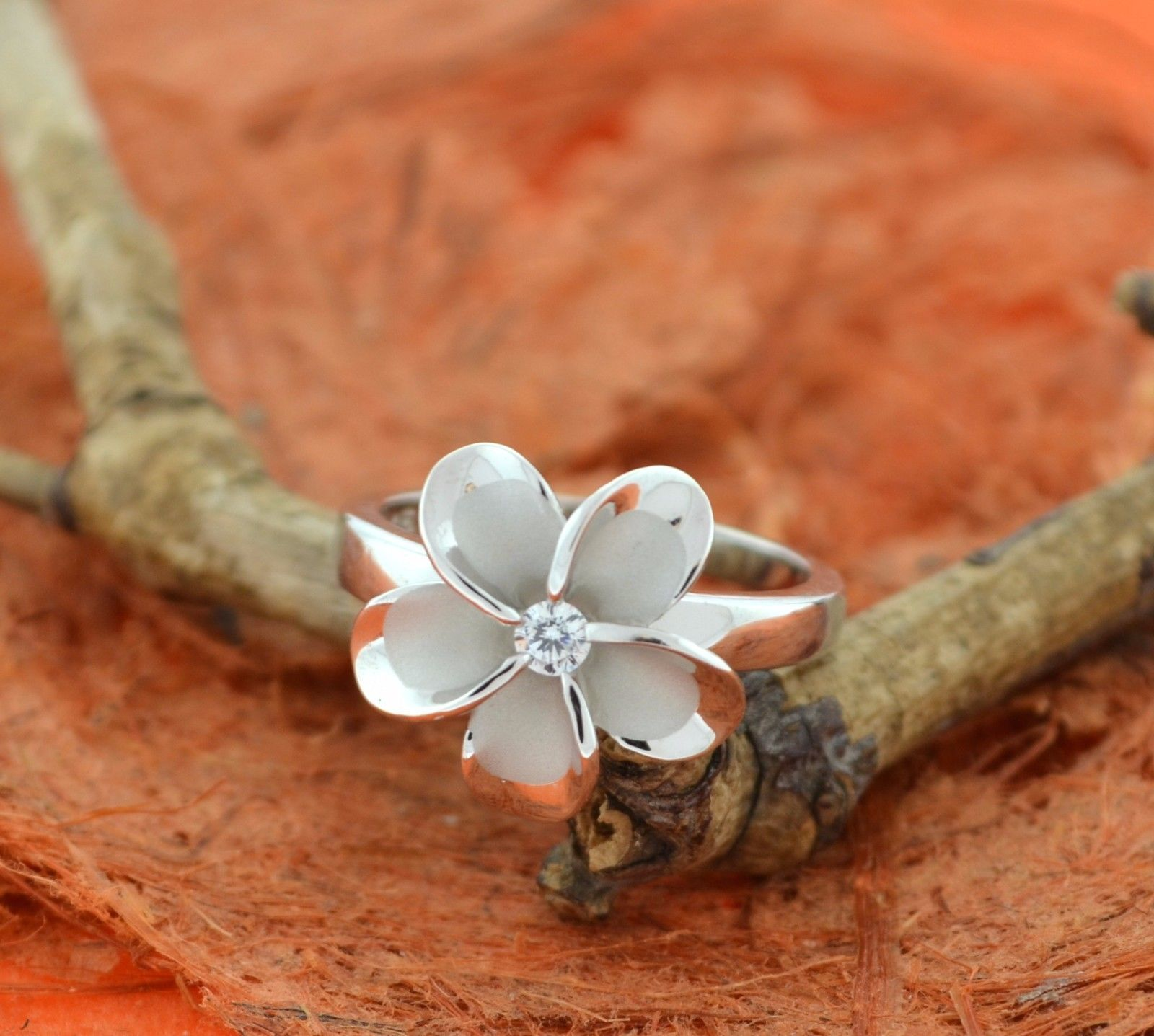 Plumeria cz flower ring sterling silver hawaiianflowercutefancy plumeria cz flower ring sterling silver hawaiianflowercutefancy izmirmasajfo