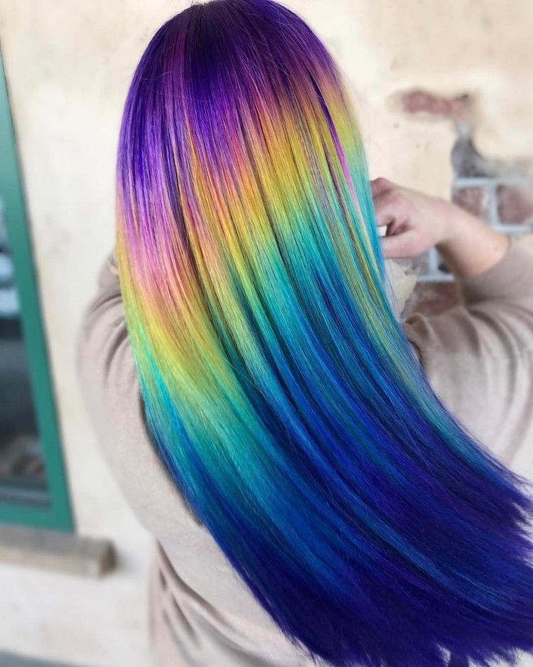Animated Rainbow Shine Line This Is One I Did Ages Ago And Kinda Forgot About You Know I Hair Geek Out Rainbow Hair Cool Hair Color Different Hair Colors