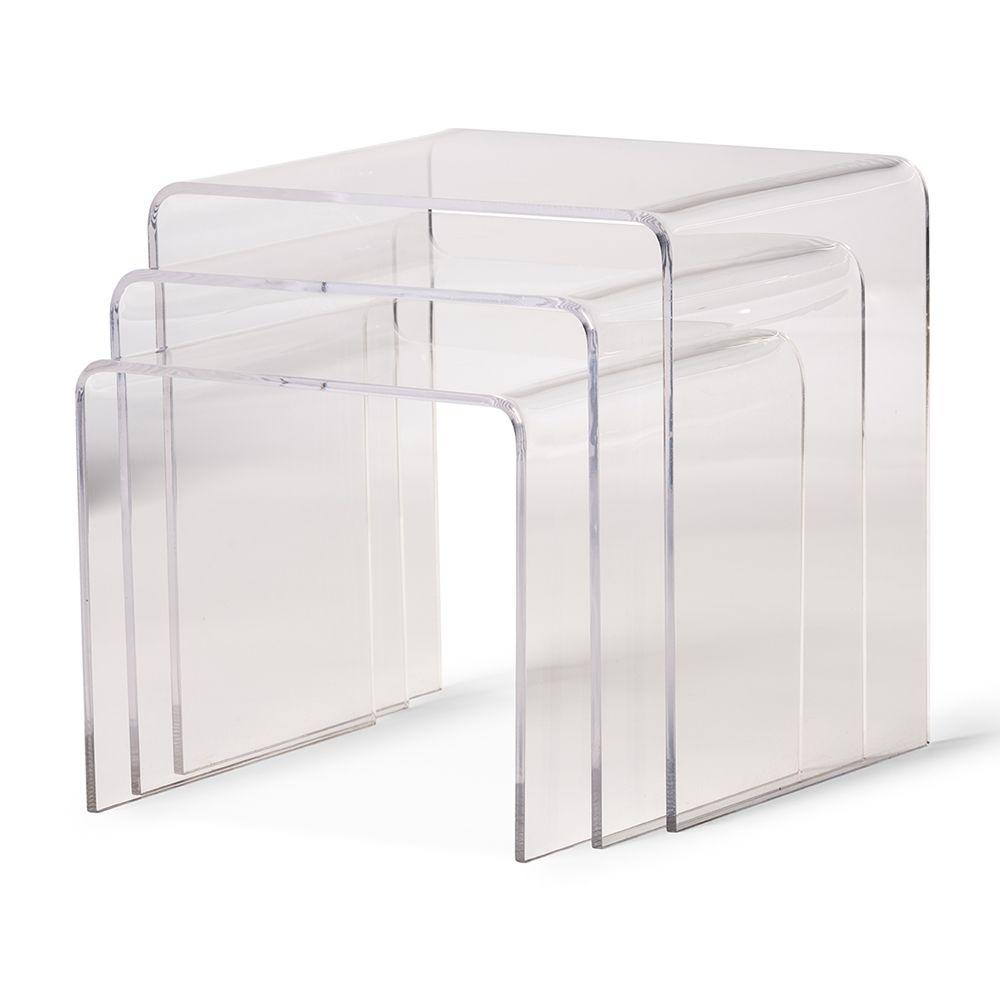 Acrylic nesting table 3 pc table set display stands wholesale acrylic nesting table 3 pc table set display stands wholesale interiors geotapseo Images