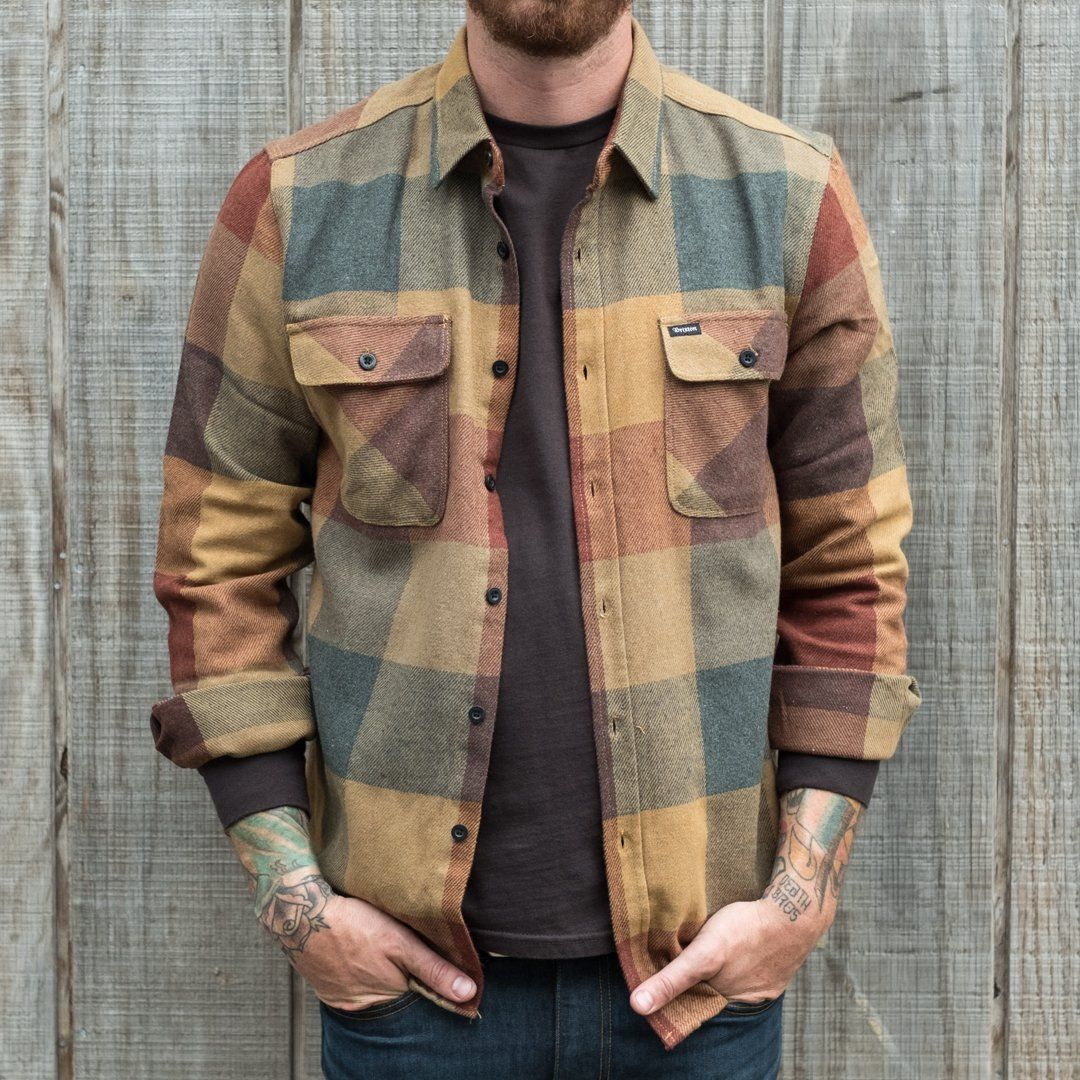 Brixton Bowery Flannel Rust and Copper Brixton Clothing dcff644dfcf