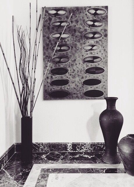 Black collection-Painting and painted sole vases  YKdesigns
