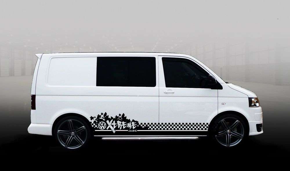 Vw T5 Transporter Swb Vdubz Xtreme Stripe Custom Decal Stickers Fits T4 In Vehicle Parts
