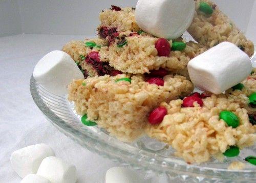 Holiday rice crispies treats recipe Christmas Pinterest Rice