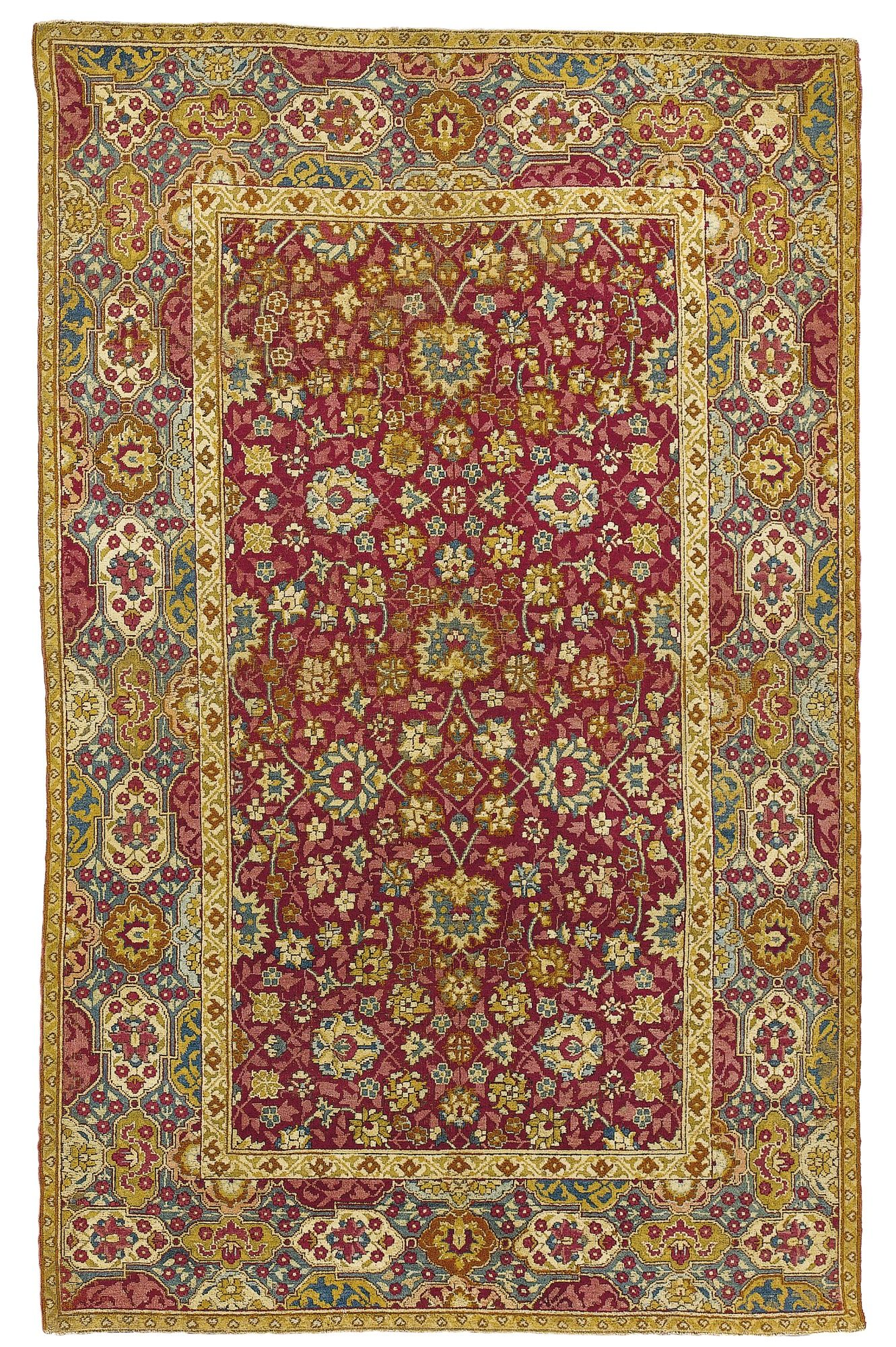 A Mughal Rug Probably La North India Lot Sotheby S
