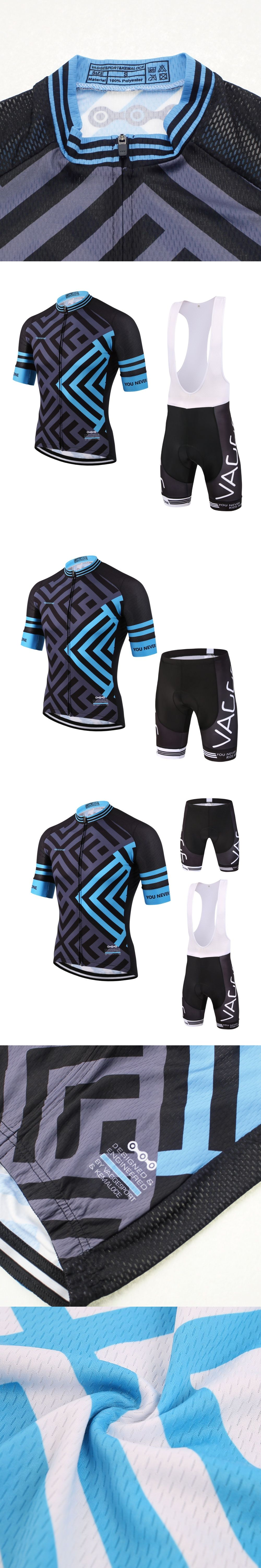 2017 blue outdoor professional cycling wear jersey men breathable cycle  bike clothes short sleeve f6b2e03a5
