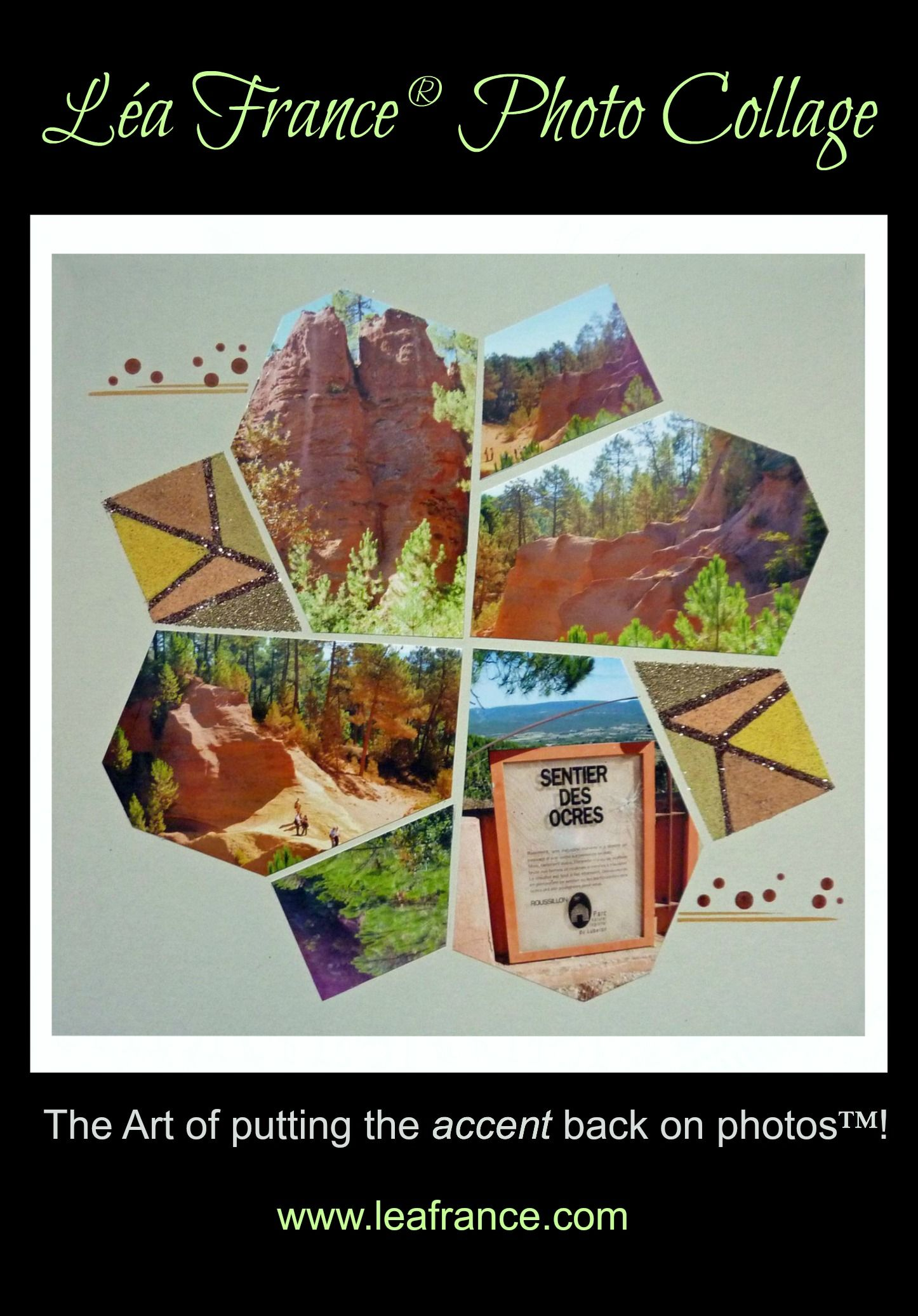 Photo Collage created by Claudine, using Diamond Stencil. #Photos #Collage #Designs #Stencils #PhotoCollage #Art #Scrapbook #Crafts #LeaFrancePhotoCollage
