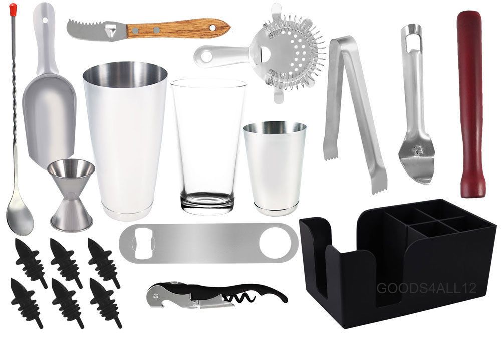 20 piece Professional Bartender Kit, Bartending Tools, Cocktail Shaker Set | Home & Garden, Kitchen, Dining & Bar, Bar Tools & Accessories | eBay!