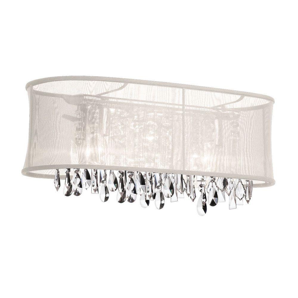 Dainolite 4 Light Crystal Vanity Lighting With Polished Chrome Unique Crystal Vanity Lights For Bathroom Design Inspiration