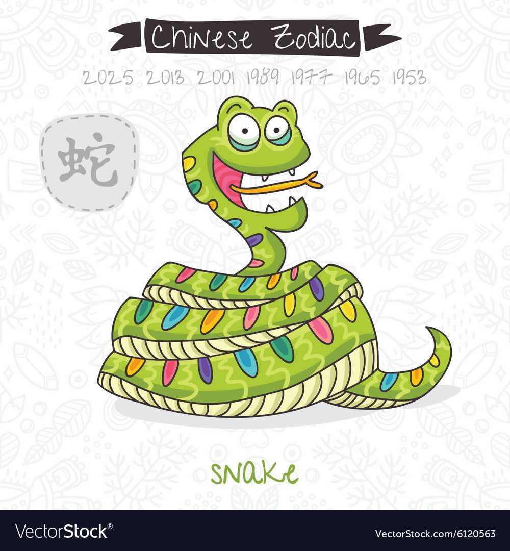 Chinese Zodiac Sign Snake Royalty Free Vector Image Affiliate