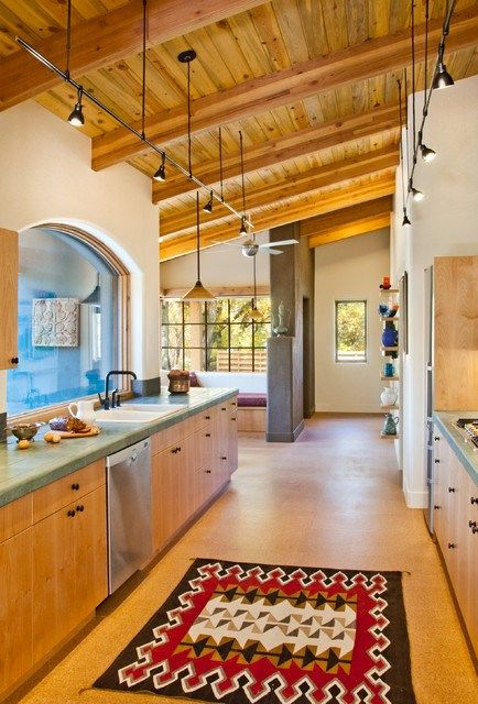 A Kitchen With Santa Fe Style Mexican Style Kitchens Mexican Kitchen Decor Kitchen Decor