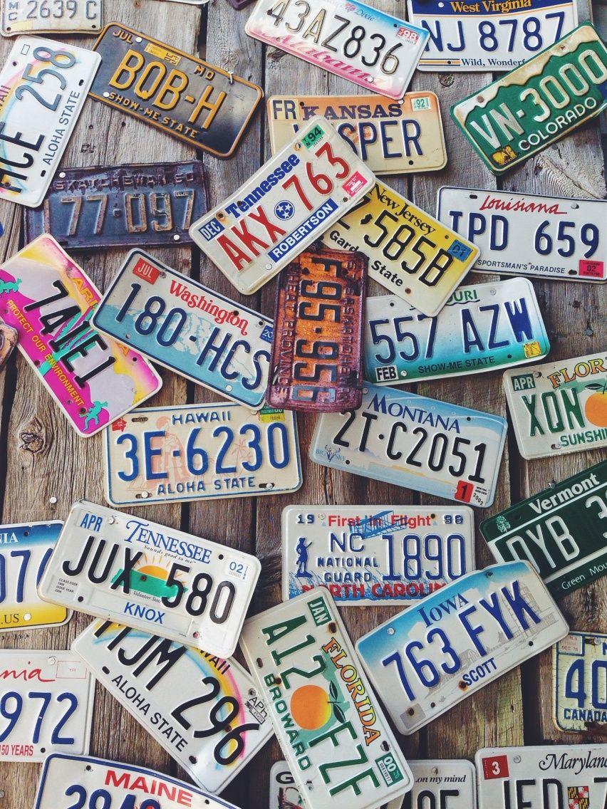f238c6110 Vintage license plates | VSCO Cam | hannakaskal | L i f e s t y l e ...