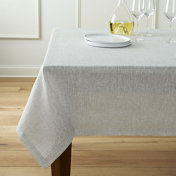 Aurora Linen Tablecloth Table Cloth Dining Room Tablecloth Crate And Barrel