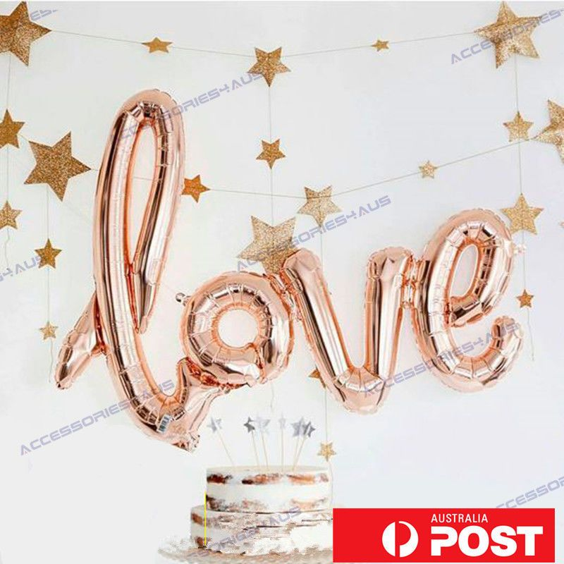 40 inch love foil balloon wedding script handwriting home decoration 40 inch love foil balloon wedding script handwriting home decoration rose gold in home garden parties occasions balloons decorations ebay junglespirit Image collections