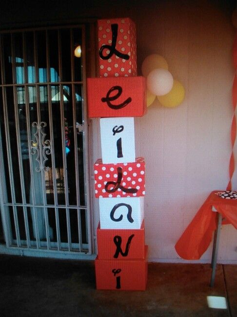 Name Tower Great Idea For A First Birthday Party Or Any Event