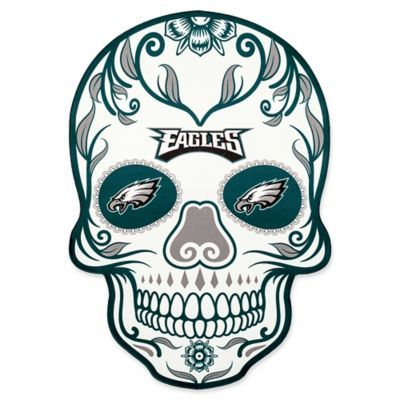 9b6b4cdb NFL Philadelphia Eagles Outdoor Dia De Los Muertos Skull Decal Multi ...