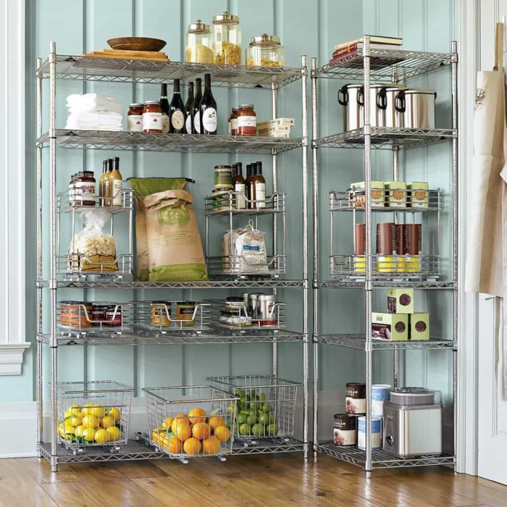 Useful Kitchen Pantry Rack Open Pantry Steel Shelving Shelving