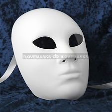 Plain White Masks To Decorate Plain White Blank Decorating Craft Full Face Masquerade Mask