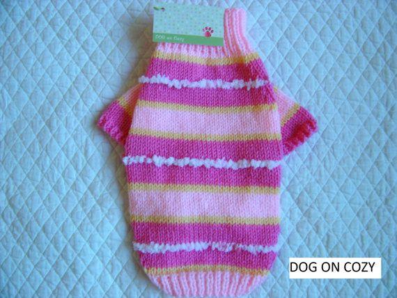 Colorful Dog Sweater Raglan Sleeve Pet Sweater Full Length Pet Top