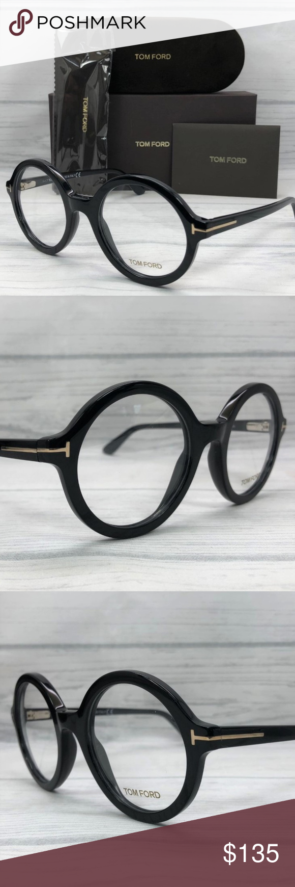 bf9ad3332f Tom Ford TF5461 001 Shiny Black   Demo Lens 52mm Model Name   TF5461 Frame  Color  Shiny Black Frame Material  Plastic Country of manufacture  Italy  Item ...