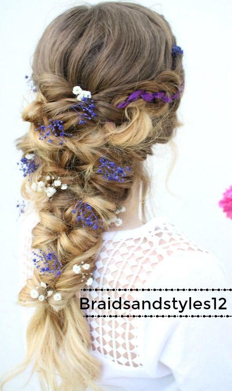 Beautiful Curly Braided Hairstyle Bridal Hair Fairy Hair