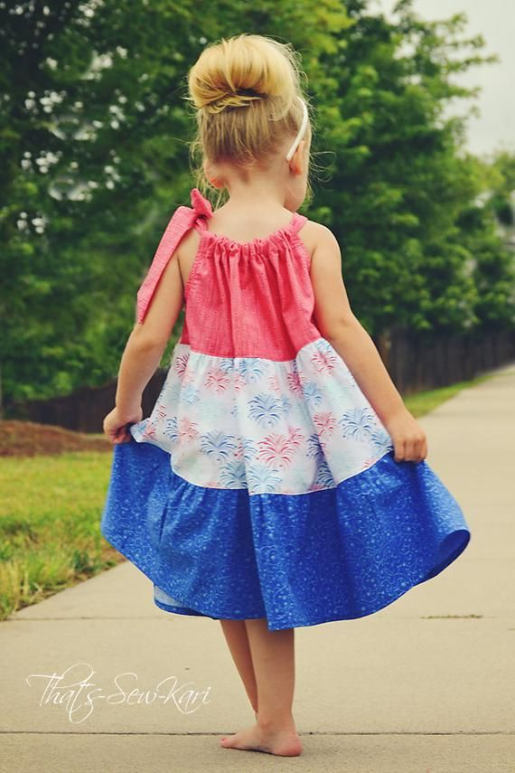 Summer Sundress SEW FLOUNCY Tier Pillowcase Dress Pattern PDF Eyelet Dress Outfit - Easy Sewing Children Clothing