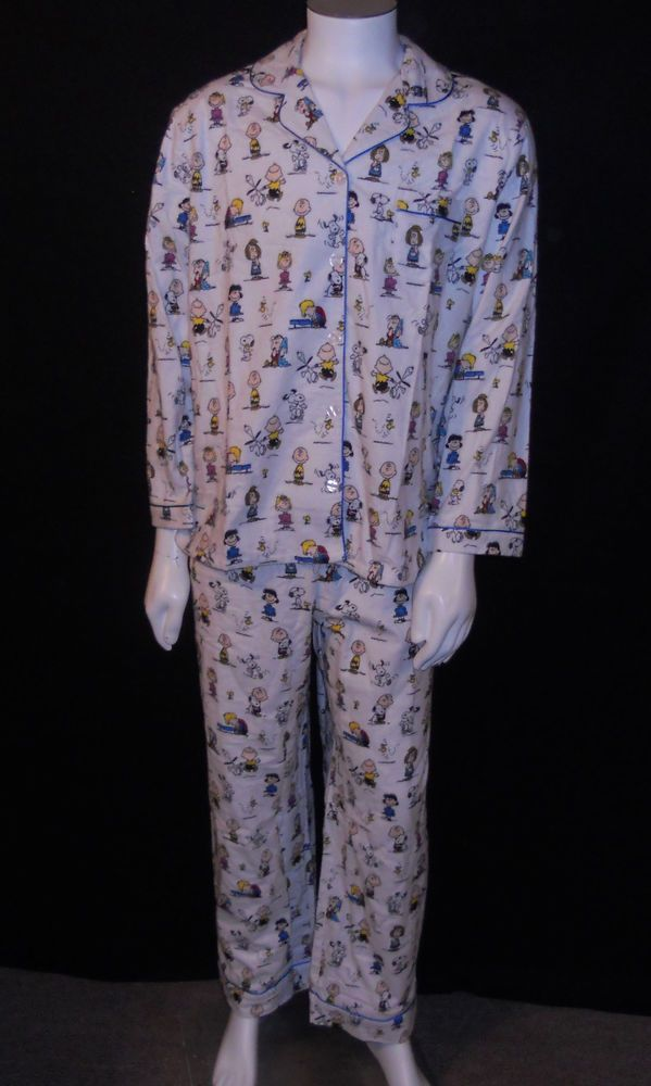 Peanuts Gang Charlie Brown Pajamas Womens Plus Size 1x Flannel Snoopy Lucy Linus Pyjamas Womens Pajamas Clothes