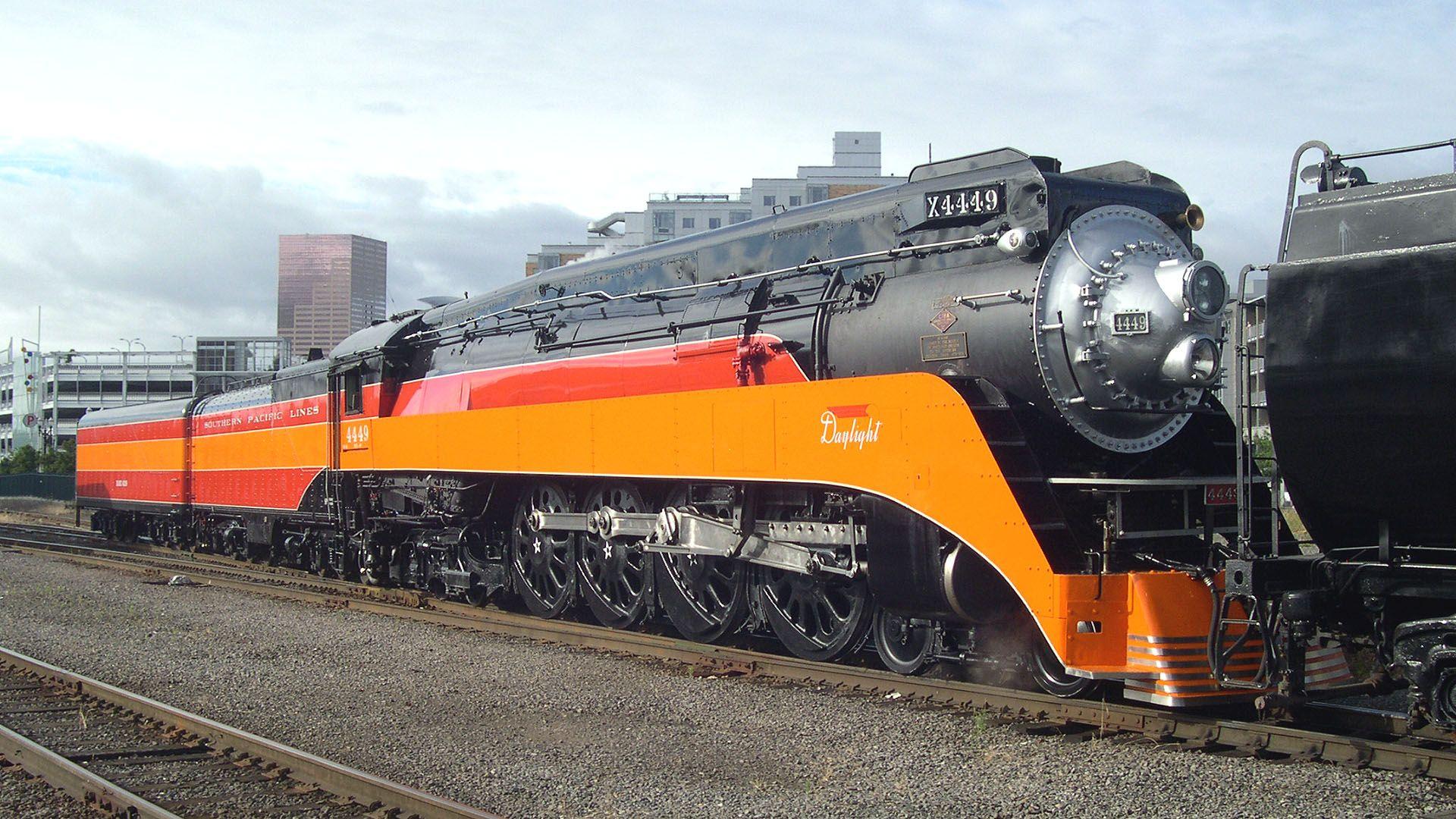 SP 4449. 蒸気機関車, 機関車, 乗り物