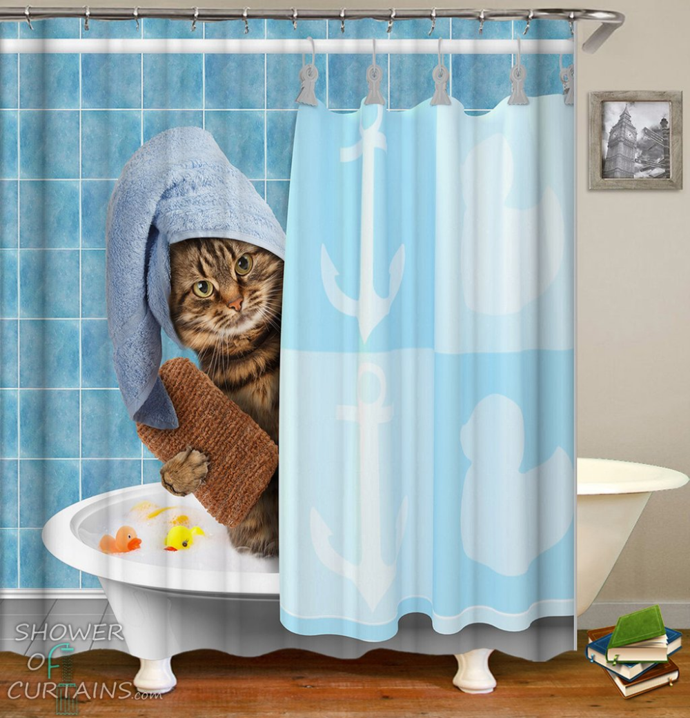 Shower Curtains Bathing Cat Shower Of Curtains Shower Curtain Polyester Cat Shower Curtain Funny Shower Curtains