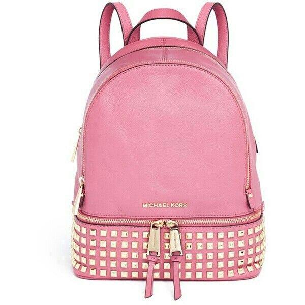 11c038220069 ... cheap michael kors small rhea studded backpack 69e20 57bd1