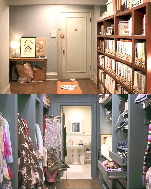 Storage in carrie bradshaw 39 s apartment home is where the - Carrie bradshaw apartment layout ...