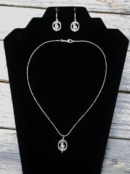 Alpaca Earring /& Necklace Set