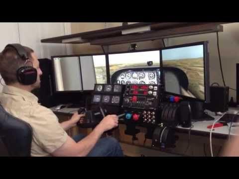 X-Plane simulator with trackir and saitek pro flight controls