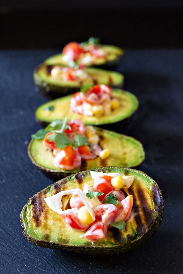 Grilled Stuffed Avocados Have Great Flavor And Are